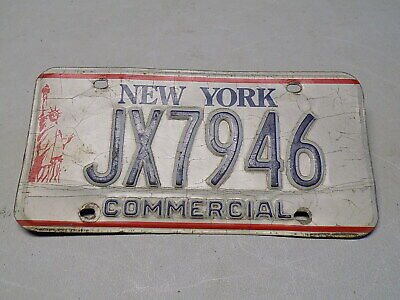 1986 - 2000 New York Commercial License Plate JX7946 Statue of Liberty ~FreeShip