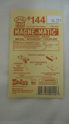 "Kadee #144 HO Scale Whisker Couplers (4) 1/4"" Short Underset Shank New"