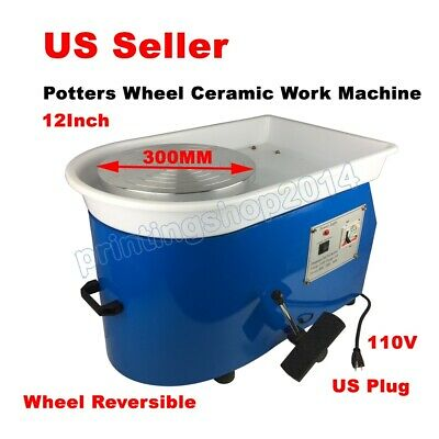 110V Continuously Potters Wheel Ceramic Work Machine With 12Inch Aluminium Alloy