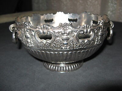 Ornate FB Rogers Silver Plate Pedestal Ringed Handle Monteith Bowl