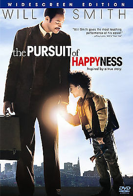 The Pursuit of Happyness (DVD, 2007, Widescreen) with Will & Jaden Smith