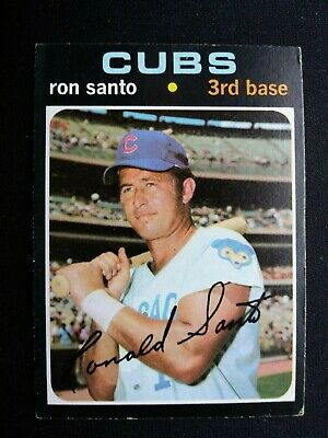 1971 Topps Baseball Card # 220 Ron Santo - Chicago Cubs (HOF)