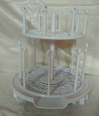 First Years Spin Stack Two Tiers Baby Bottle Drying Rack Space Saver Complete