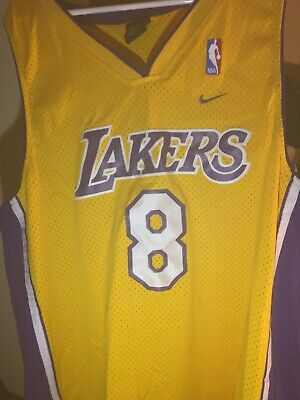 8ff7bb7b9a4 NIKE NBA LOS Angeles Bryant Sewn blue Jersey XXL 2XL #8 throw back ...