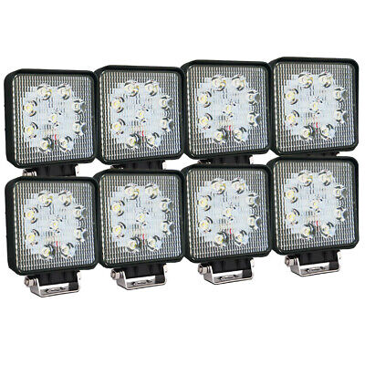 8X 27W CREE LED WORK LIGHT BAR OFFROAD FLOOD REVERSE TRUCK Driving 12V 24V 4x4