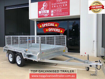 10X6Tandem  Trailer Galvanised Heavy Duty Fully Welded 2000Kg Atm 600Mm Cag New