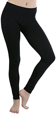 144562bd0f ToBeInStyle Women's High Waist Extra Wide Band Leggings - Black - One Size