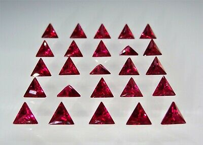 Red Ruby Triangle Cut Shape SIZE CHOICE Loose Stones Corundum Gemstones