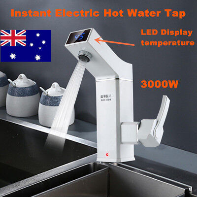 Instant Hot Water Heater Tap Electric Faucet  Home Bathroom Kitchen  220V 3000W