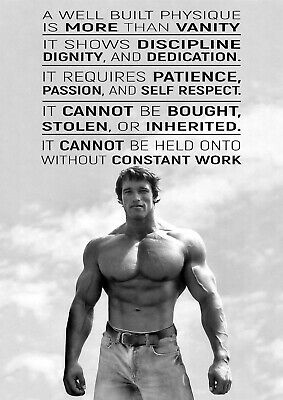 Arnold Schwarzenegger A3 A4 Poster Print Art - Gym Motivational Workout As13