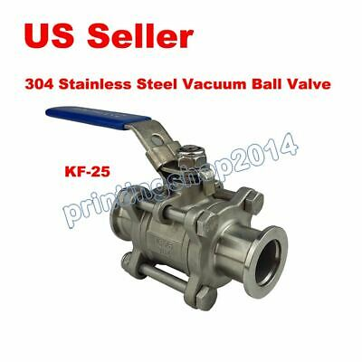 Stainless Steel KF-25 Vacuum Ball Valve With Self Lock For Chemical Food Dairy