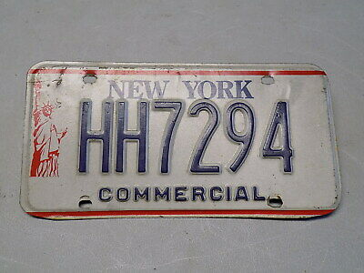 1986 - 2000 New York Commercial License Plate HH7294 Statue of Liberty ~FreeShip