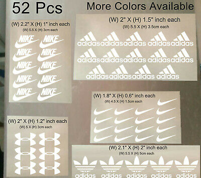 52 Pcs Nike Iron On Heat Press Iron on Nike Adidas Patch Sports Logo Diy Shirt