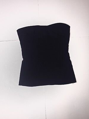12ab8e3018 Zara Strapless Tube Top Womens Size XS ExtraSmall Solid Black Side Zip Up