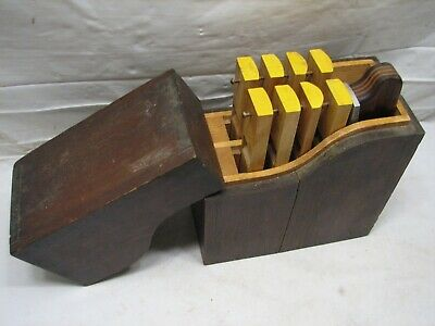 Vintage Wooden Pattern Makers Interchangeable Sole Plane Set Woodworking Tool