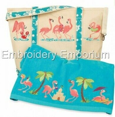 Flamingo Fantasy Collection - Machine Embroidery Designs On Cd Or Usb