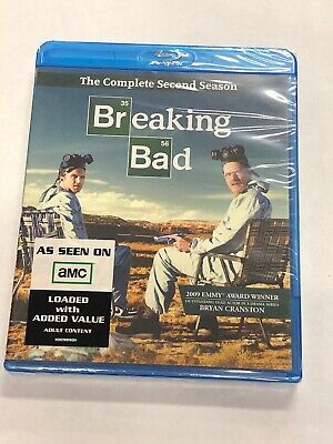 Breaking Bad The Complete Second Season Blu Ray Disc NEW SEALED UNOPENED