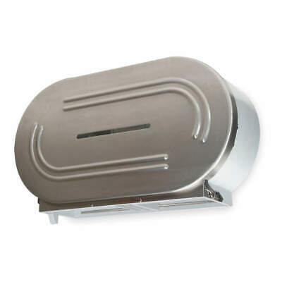 Topugh Guy Universal Jumbo Toilet Paper Dispenser, Satin, Holds (2) Rolls
