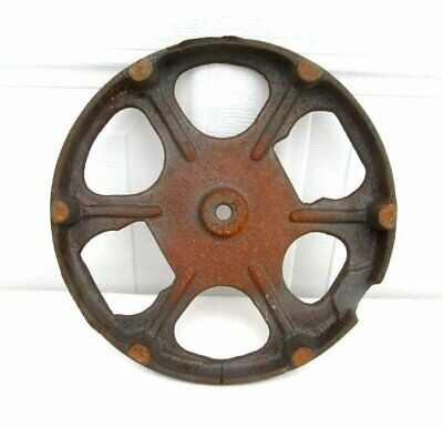 Large Antique Steampunk Rustic Round Cast Iron Floor Lamp Base Weight Part 10""