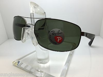 52aff7703c Authentic Rayban Rb3527 029 9A Matte Gunmetal green Polarized Lens 3527