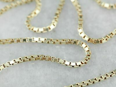 "14K Solid Yellow Gold Box Necklace Real Gold Chain 16"" 18"" 20"" 22"" 24"" 26"" 30"""