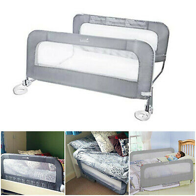 Swing Down Double Sided Bed Rail Guard Child Safety Kids Toddler Crib Infant