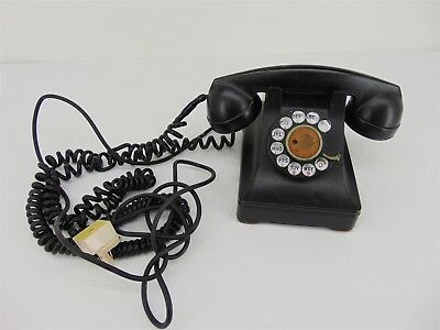 Vintage Western Electric Bell System F1 Black ROTARY DIAL Telephone