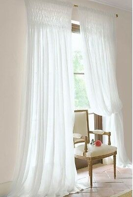 Shabby French Country Curtains D 2 White Vintage