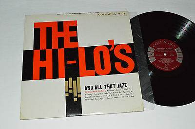 THE HI-LO'S And All That Jazz LP Columbia CL 1259 Mono 6-Eye VG+ Marty Paich