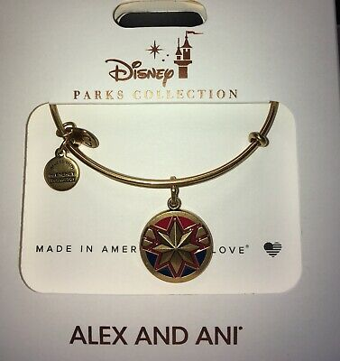 Disney Alex & And Ani Captain Marvel Gold Bracelet
