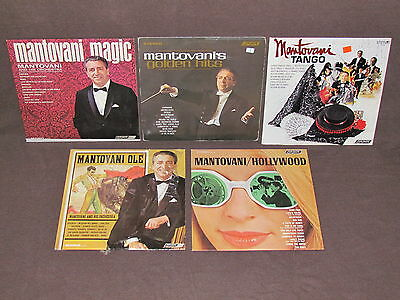 MANTOVANI AND HIS ORCHESTRA 5 LP RECORDS VINYL ALBUMS Hollywood/Golden Hits/Ole+