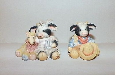 Mary's Moo Moos Lot 2-Cow Girl Cowboy-Pony-Horseshoe-Hat-Chip-Lucky