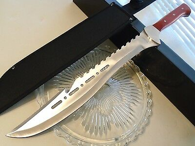 "Tomahawk Wild Boar Razorback Full Tang Machete Sword Knife 440 21 1/2"" XL1557"