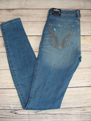 NWT Pacsun Women/'s Distressed Ripped Leopard Mid-Rise Skinny Denim Jeans P50