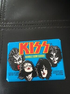 Kiss 1978 Donruss Wax Pack Trading Cards Bubblegum