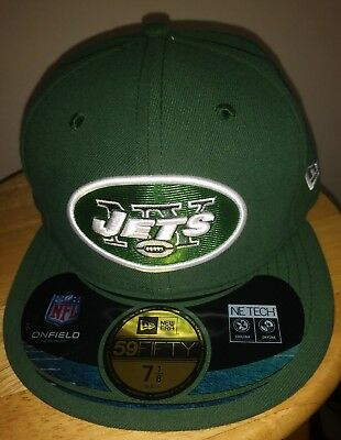 NY Jets NFL Hat Green New Era On Field Game Cap NEW YORK 5950 Adult Fitted 05761b525