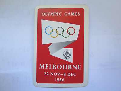 1956 MELBOURNE OLYMPICS PLAYING CARD 8 of SPADES No 3