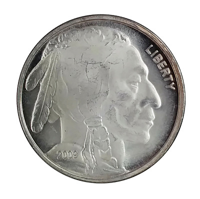 2009 USA Buffalo Indian Head 1oz Fine Silver (.999 ) Round BU Coin ( BR02 )