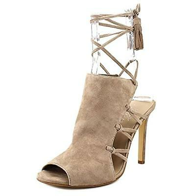 e18d245fc3ad 424 Fifth Womens Fran Taupe Strappy Dress Sandals Shoes 6 Medium (B