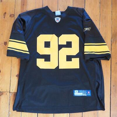 size 40 ea90c 5f3fe PITTSBURGH STEELERS AUTHENTIC Reebok James Harrison Color ...