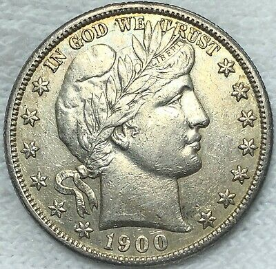 1900-S Barber Liberty Silver Half Dollar HIGH ABT MS Uncirculated. Great pl Date