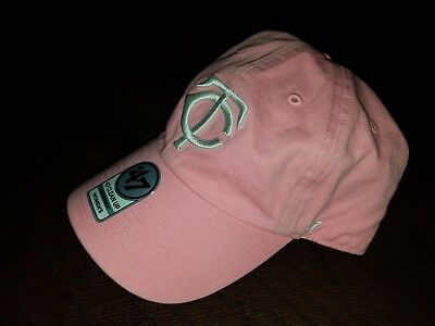 best loved d04bb f5a95 ... cheapest minnesota twins 47 brand strapback adjustable clean up pink  women hat 96ae3 d1f6b