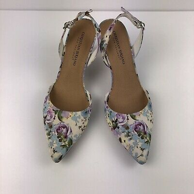 155d6c5dd76 CHRISTIAN SIRIANO (FOR Payless) Floral , Heel Sling Back Shoes - Size 8, Sp