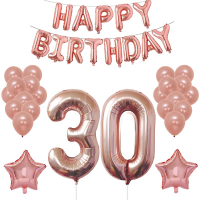 18th 21st 30th 40th 50th 60th Happy Birthday Balloons Rose Gold