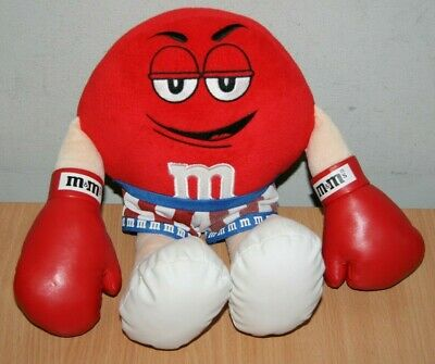 M&M's Soft Toy Boxer Boxing Gloves Rare Collectable