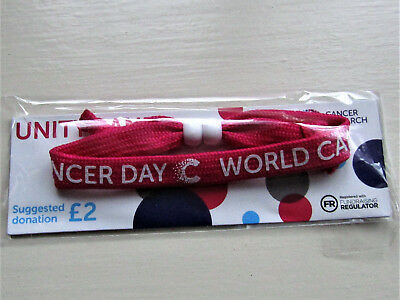 Cancer Research UK  WCD 2019 Unity Band - Pink & White - Badge