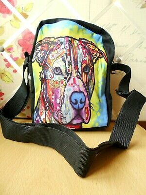 Staffy Dog Small Messenger Bag Shopping Show Shoulder Staffordshire Bull Terrier