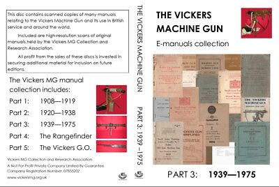 Vickers Machine Gun Manuals Collection: 1939 to 1975 (PDFs and JPGs on DVD)