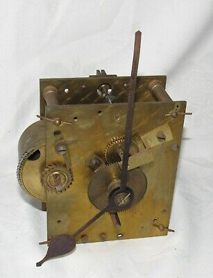 Nice English Antique Fusee Clock Movement With Chain