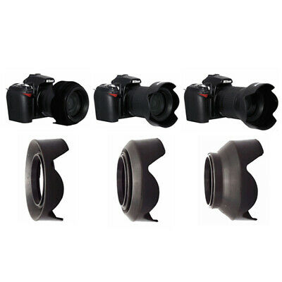 52mm Collapsible Rubber Silicon Foldable Petal Lens Hood for Canon Nikon Pentax